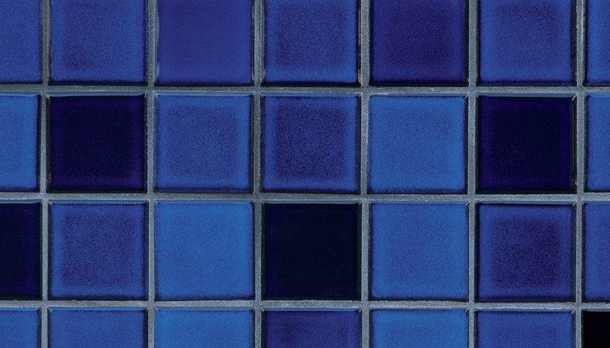 Avoid small tiles in a small bathroom.