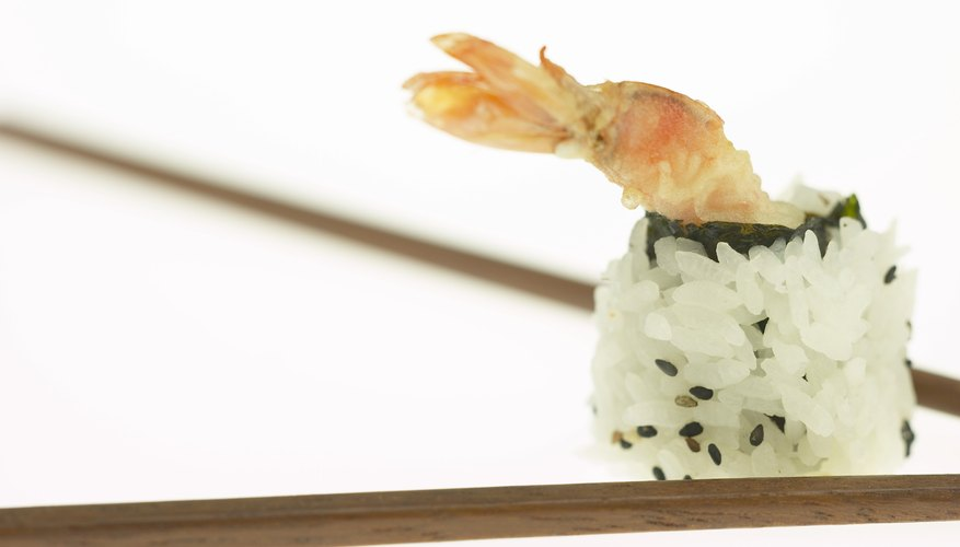 Serve sushi at a Japanese-themed party.