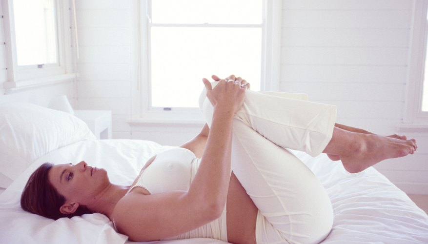 While experiencing a cramp, try stretching to stop it.