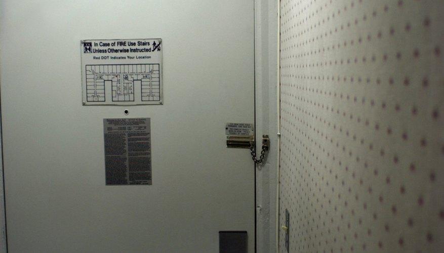 Interior of hotel room entrance