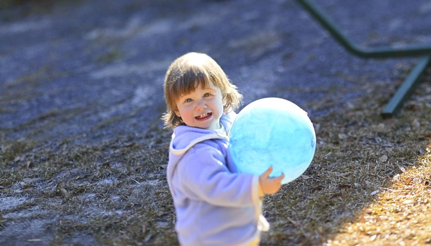 A variety of skills can be learned from playing with a ball.