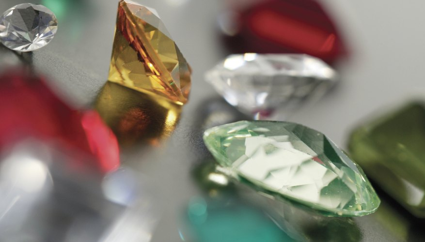 Faceted gems are often sought by jewelers.