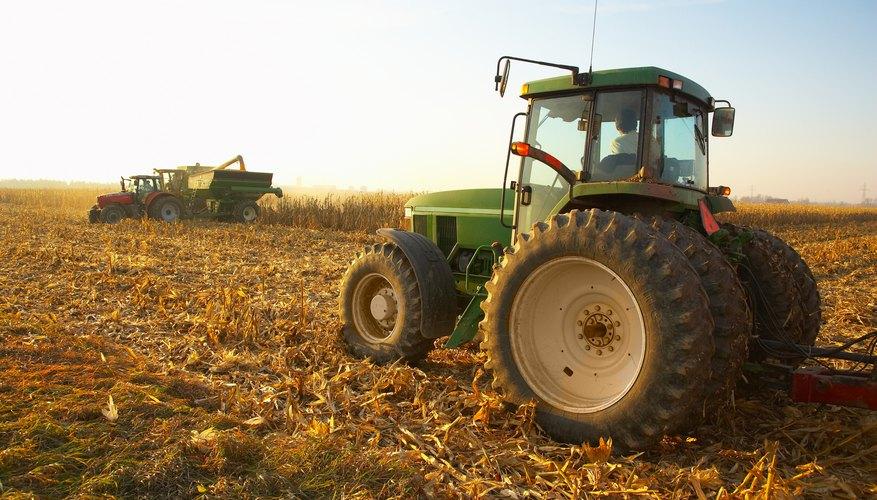 Tractor in field