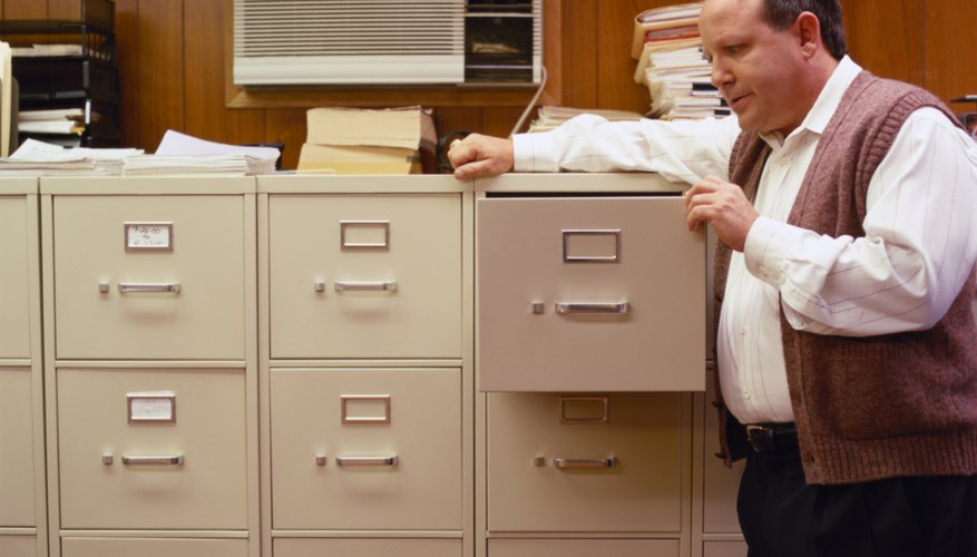 You can measure one drawer to find the capacity of your filing cabinet.