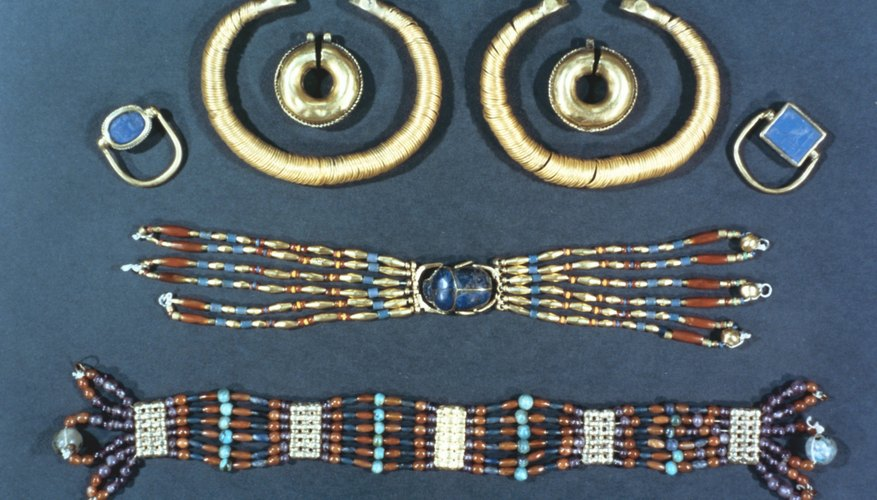 Jewelry was often buried with the dead in ancient Egypt.