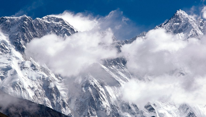 Mount Everest is almost always covered by snow and clouds.