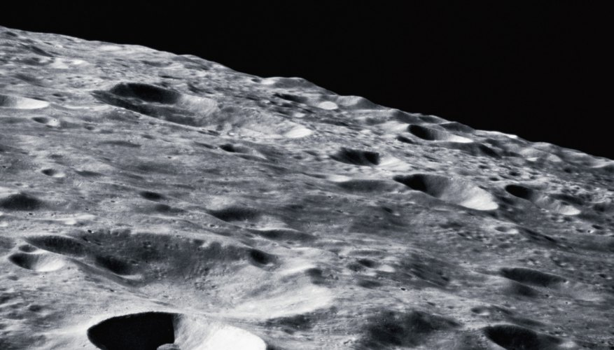 The moon's surface can be disturbed by solar wind storms.
