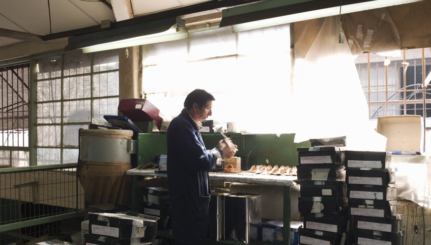 Man working in a factory
