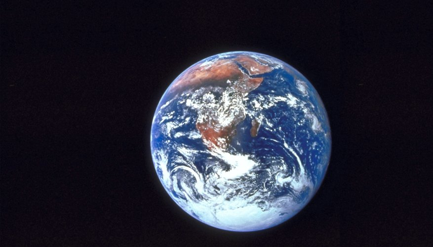 A view of earth from space.