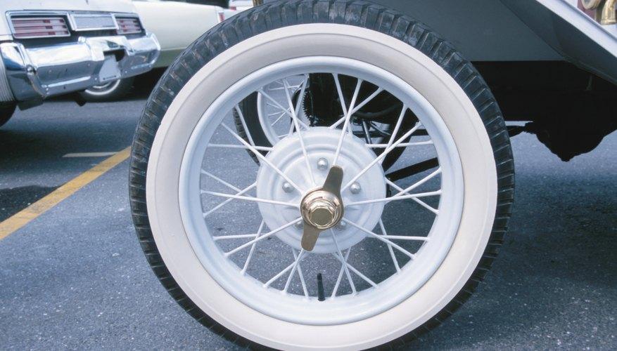 Tire of vintage car