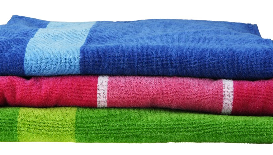 Use towels to create a protected work surface.