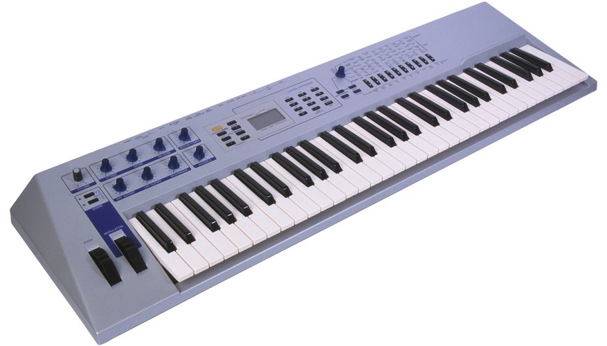 A MIDI keyboard can be used to control certain parameters in GarageBand.