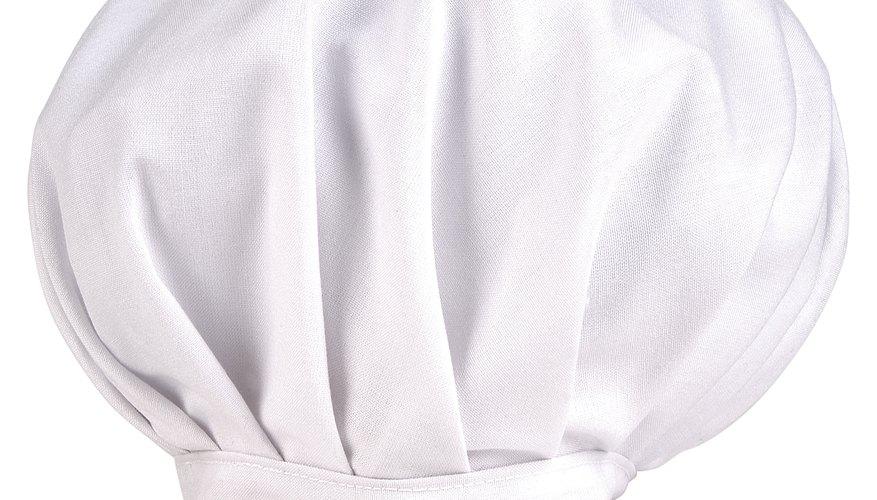 Los gorros de cocinero están normalmente hechos de algodón. 1c01bd479a4