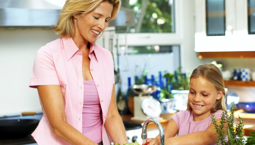 Kids can help make dinner to earn money.