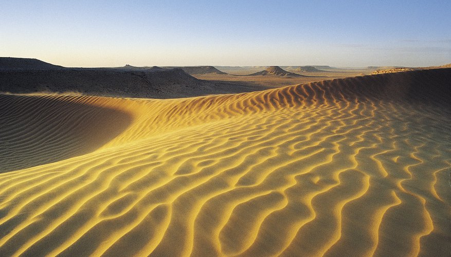 Sand is just one type of desert soil.