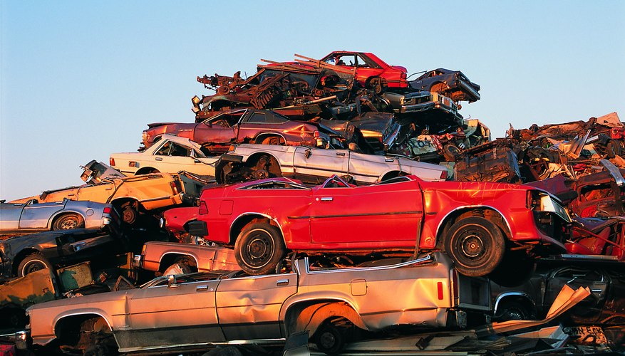Totaled cars are routinely sold to salvage yards.