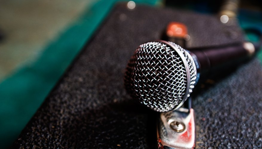 Microphones sound best through PA systems and vocal amplifiers.