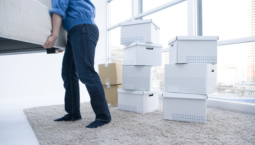 Evictions require a multi-stage legal process.