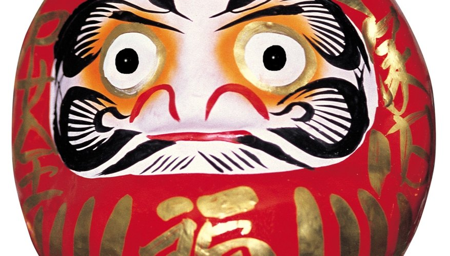 Los Daruma son pequeños muñecos japoneses utilizados para pedir deseos.