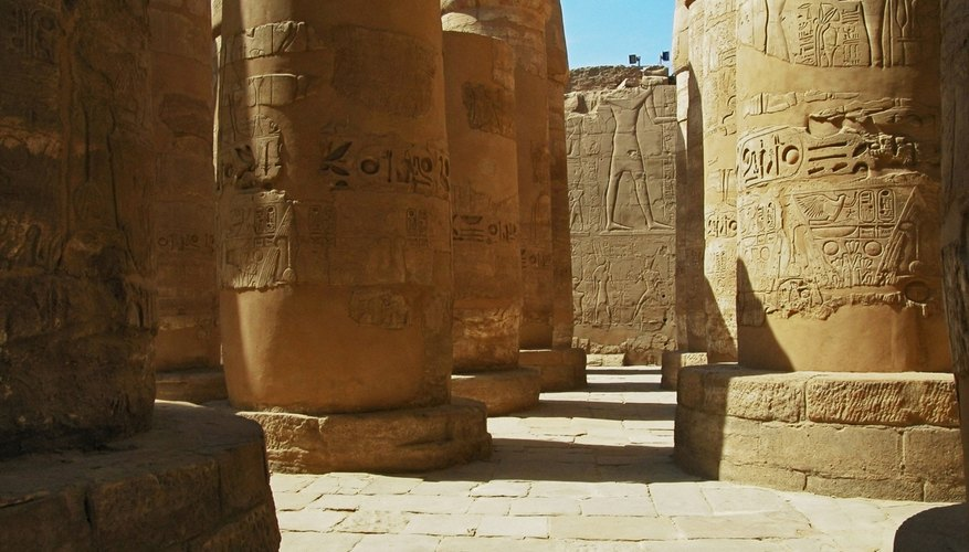 Huge temple complexes held much of ancient Egypt's wealth.