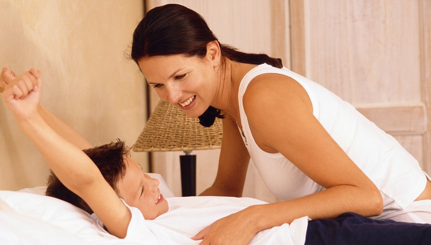 Gently waking your child may help with the morning wake-up routine.