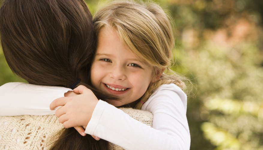 Hugs show support and affection to your child.