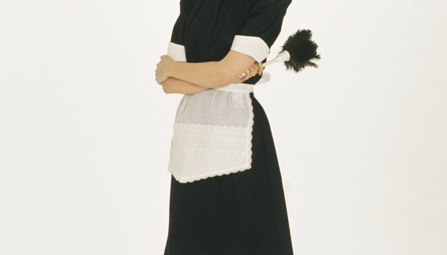 A headdress created from lace and a regular headband is perfect for a maid costume.
