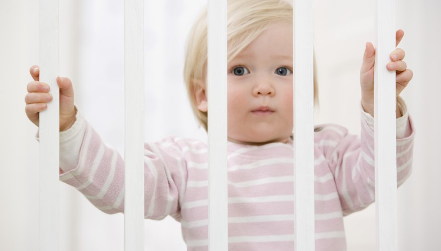 Some playpens have wood slats -- make sure they're up to code.