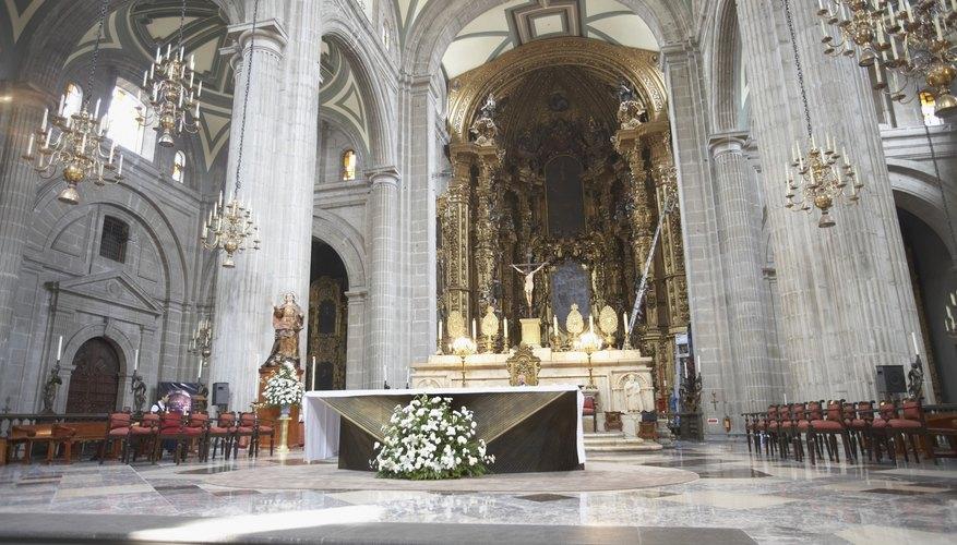 Interiors of a church