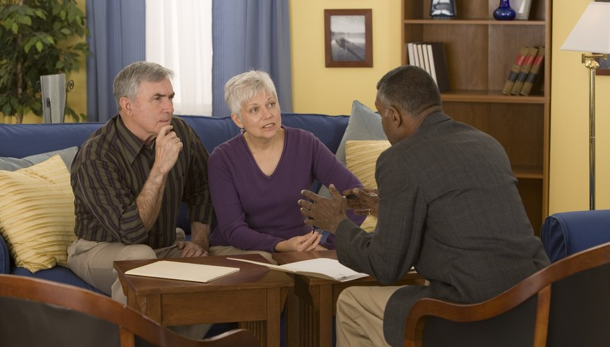 Mature couple meeting with a financial advisor