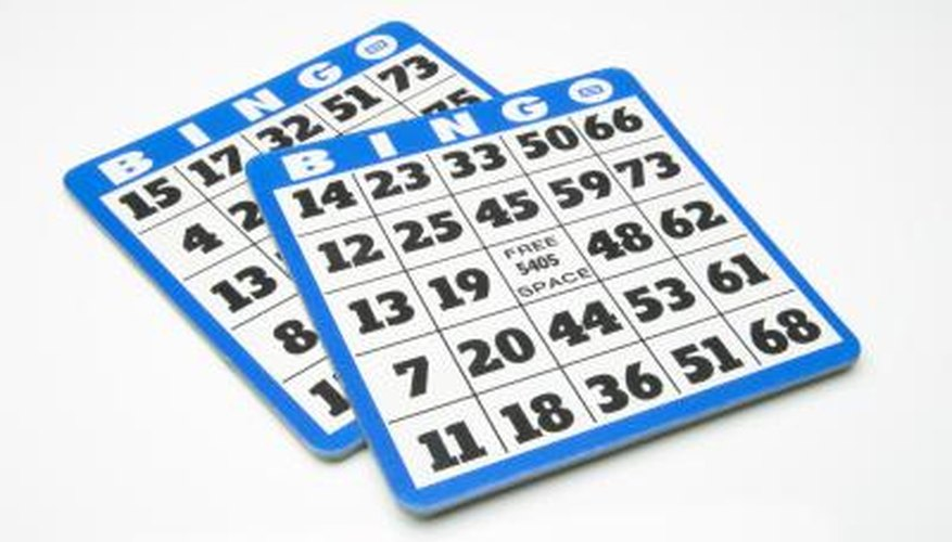 Bingo cards consist of five rows and five columns.