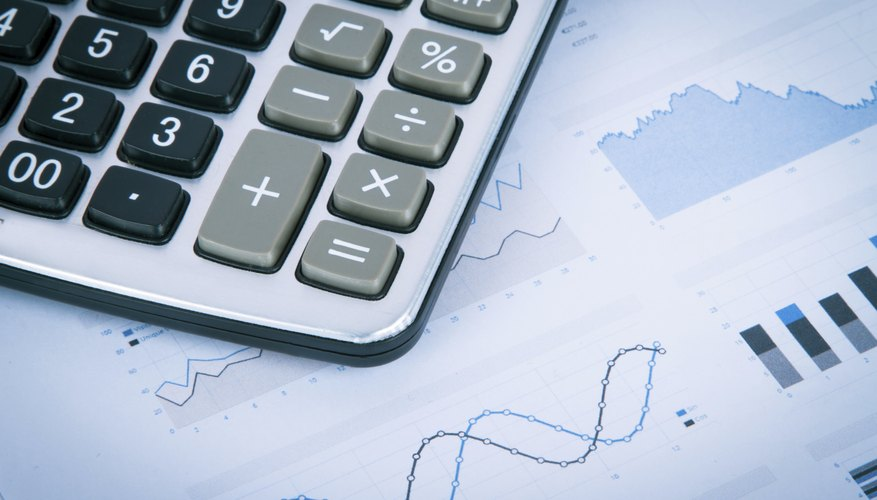 Calculator on Financial Data Graphs