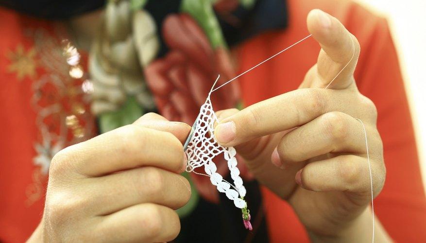Artist working on handmade jewelry