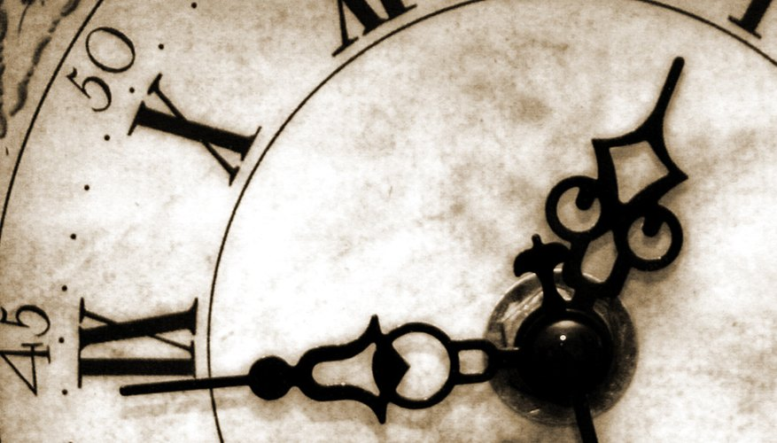 Names of Parts of a Clock | Our Pastimes