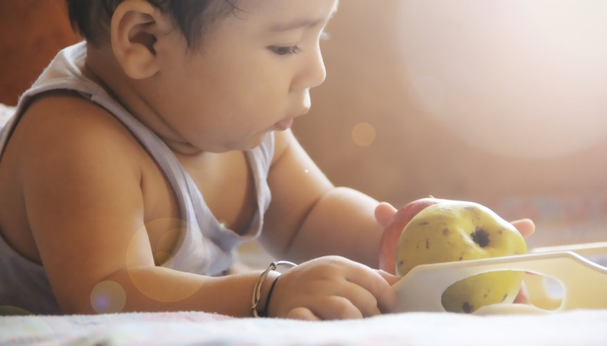 A baby that eats solid food may drink less formula.