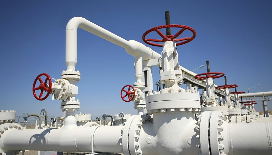 Natural gas can be used within power stations to produce electricity.