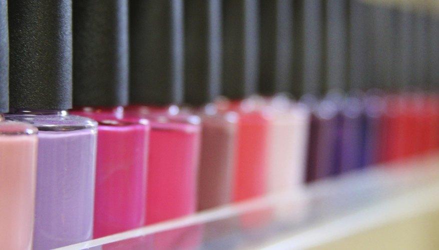 Assortment of nail polishes