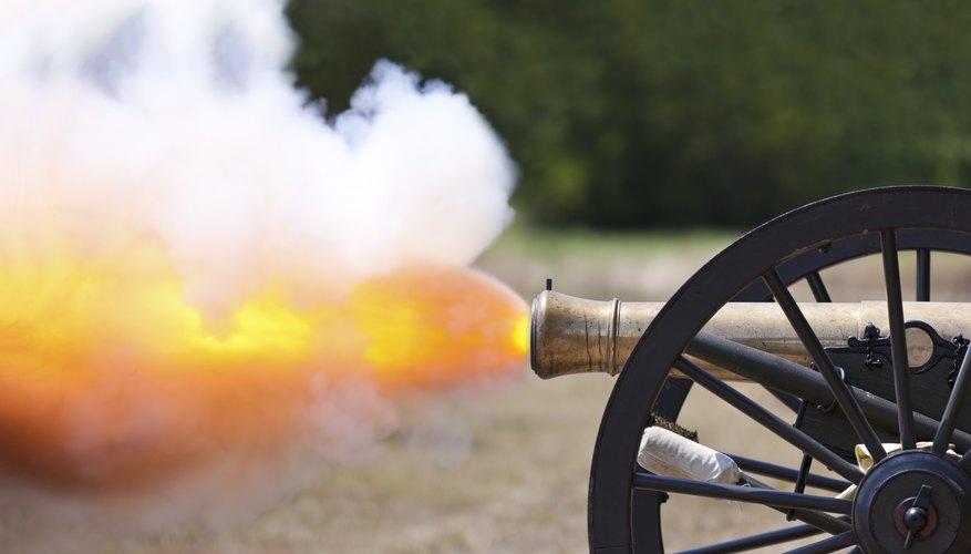 Civil war canon firing