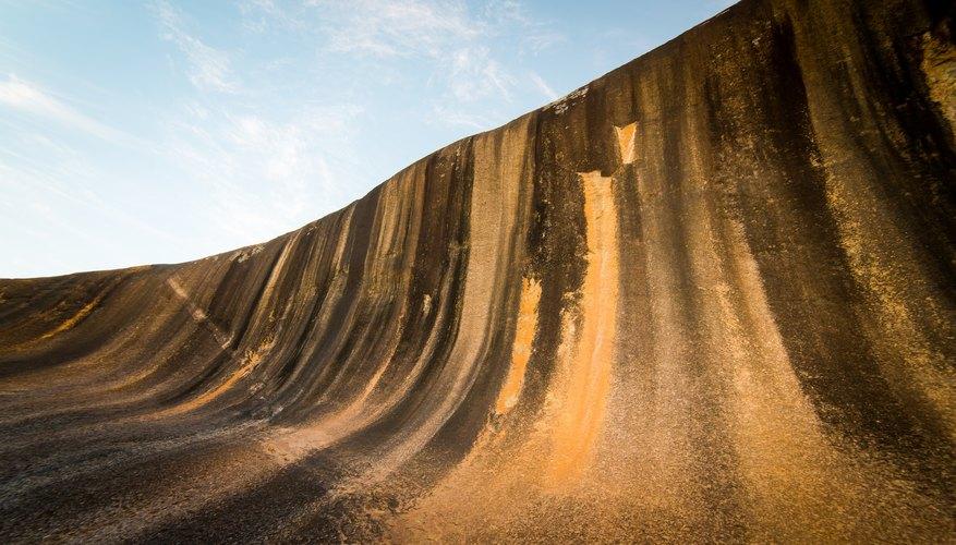 Weathering on Wave Rock in Hyden, Western Australia