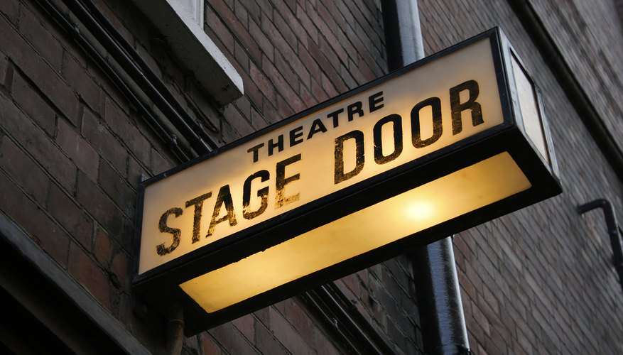 The stage door entrance to a theater.