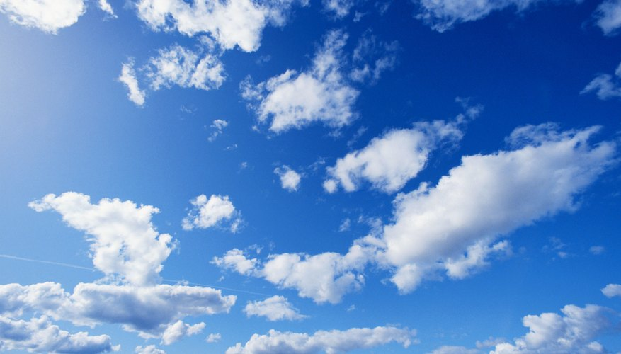 Condensed water vapor can create clouds.