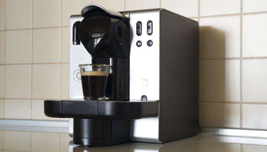 Espresso machine on a kitchen counter.