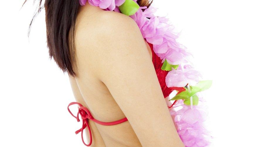 Puedes hacer tu propio vestuario de hula hawaiano en pocos pasos.