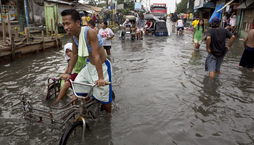 The Philippines experienced a large amount of monsoon flooding in 2012.