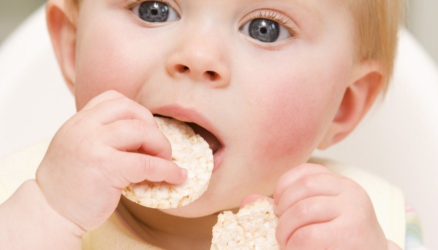 Teething biscuits are a convenient snack.