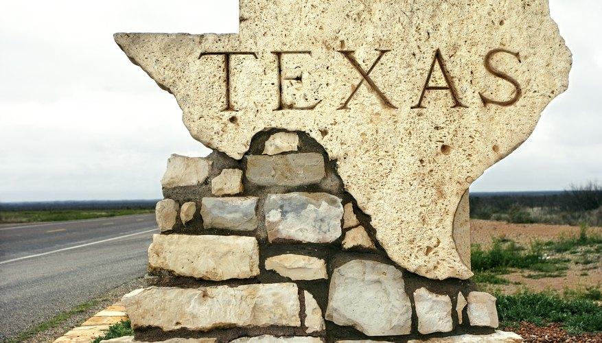 Señal en un carretera de Texas.
