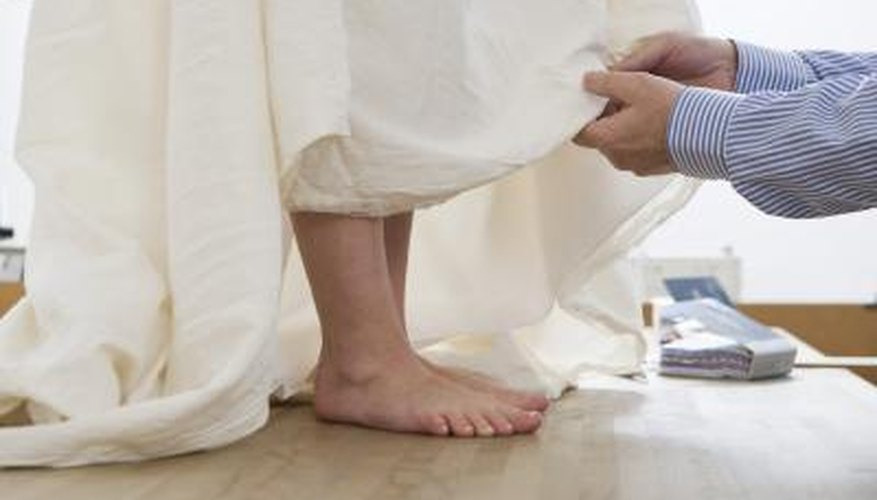 How To Hem A Wedding Dresses Our Pastimes