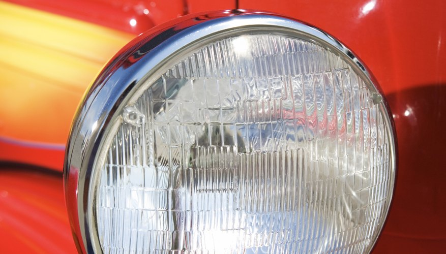 A car headlight is designed as a parabola to reflect light better