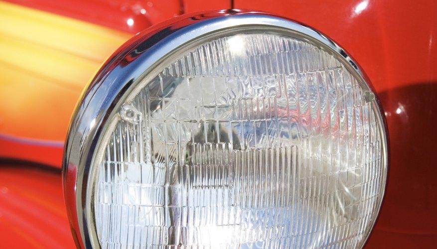 Headlight of vintage pickup truck