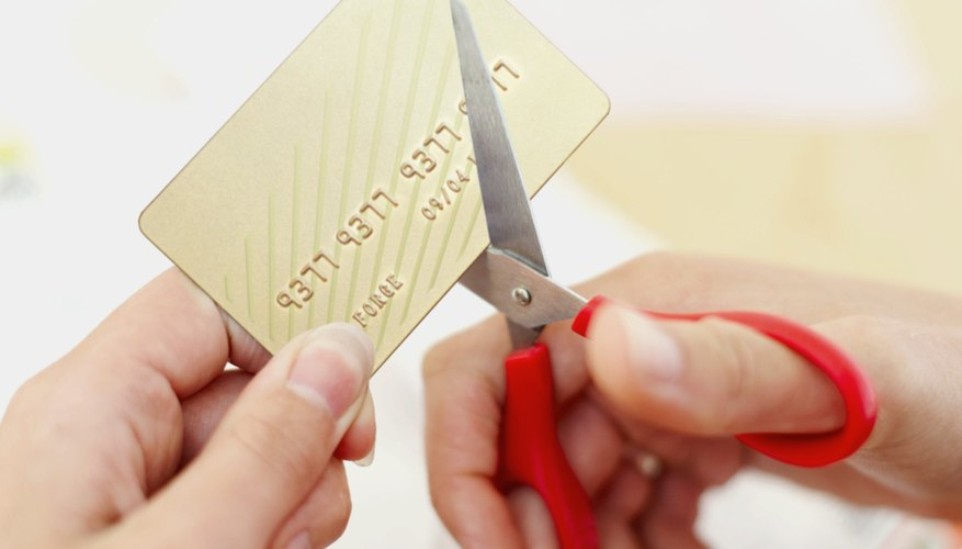 Analyze the results of canceling a credit card before cutting.
